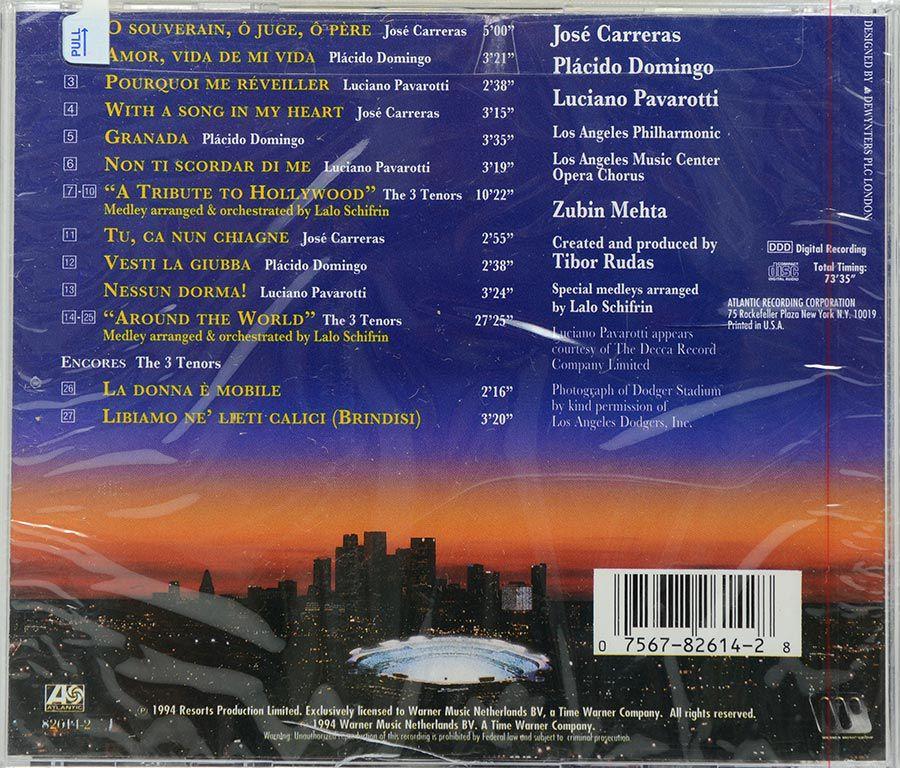 Cd The 3 Tenors In Concert 1994 - Carreras Domingo Pavarotti Mehta - Lacrado - Importado