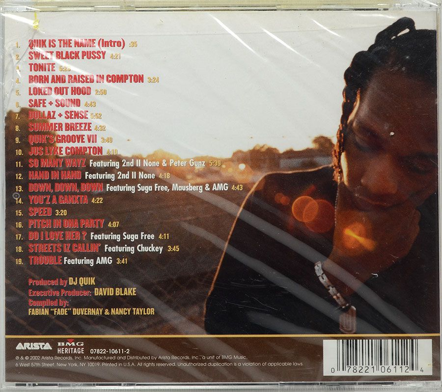 CD The Best Of Dj Quik - Da Finale - Lacrado - Importado