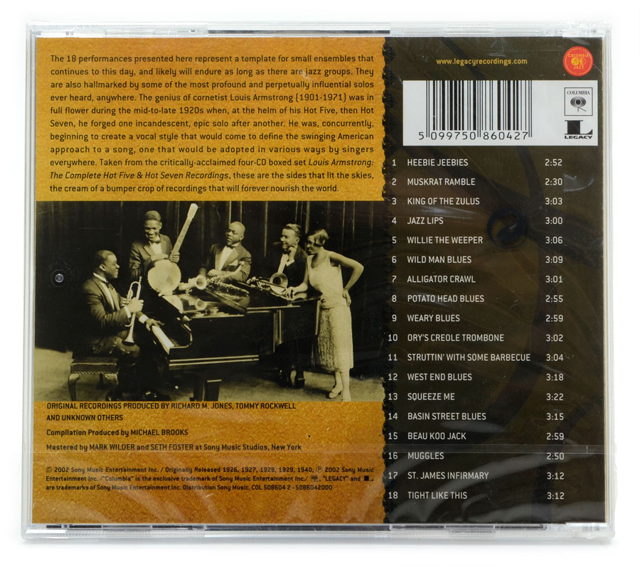 CD The Best of Louis Armstrong - Best of the Hot Five and Hot Seven Recordings - Importado - Lacrado