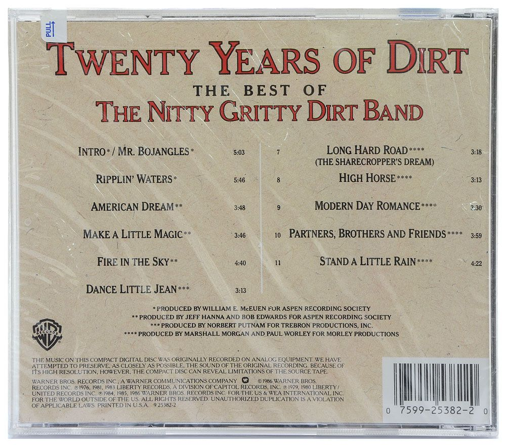 CD The Best Of The Nitty Gritty Dirt Band - Twenty Years Of Dirt - Importado - Lacrado