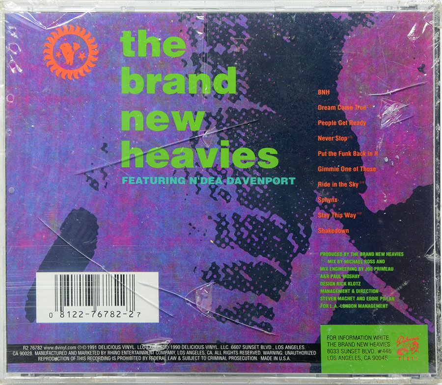 CD The Brand New Heavies - Lacrado - Importado