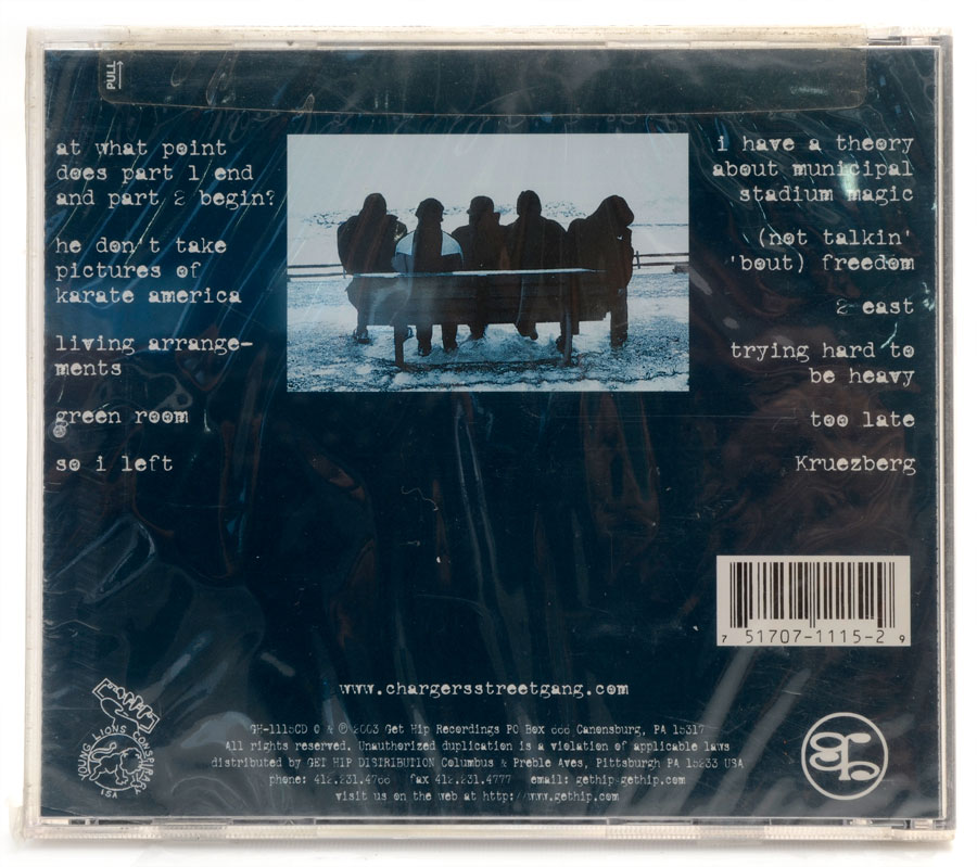 CD The Chargers Street Gang - Through The Windshield - Importado - Lacrado