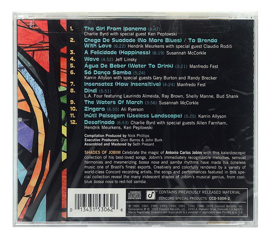 CD The Colors Of Latin Jazz - Shades Of Jobim - Importado - Lacrado