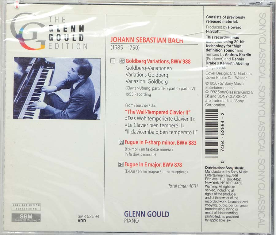 Cd The Glenn Gould Edition - Bach: Goldberg Variations Bwv 988 - Lacrado - Importado