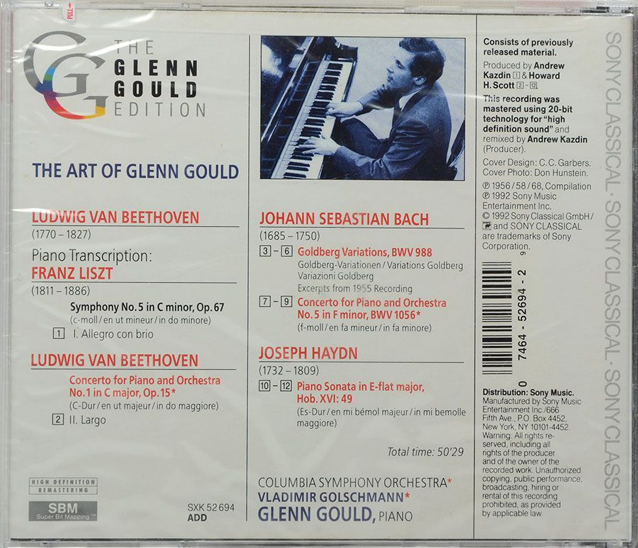 Cd The Glenn Gould Edition - Bach: Goldberg Variations - Lacrado - Importado