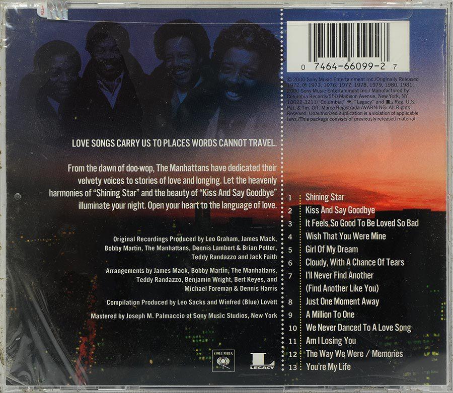 CD The Manhattans - Love Songs - Lacrado - Importado
