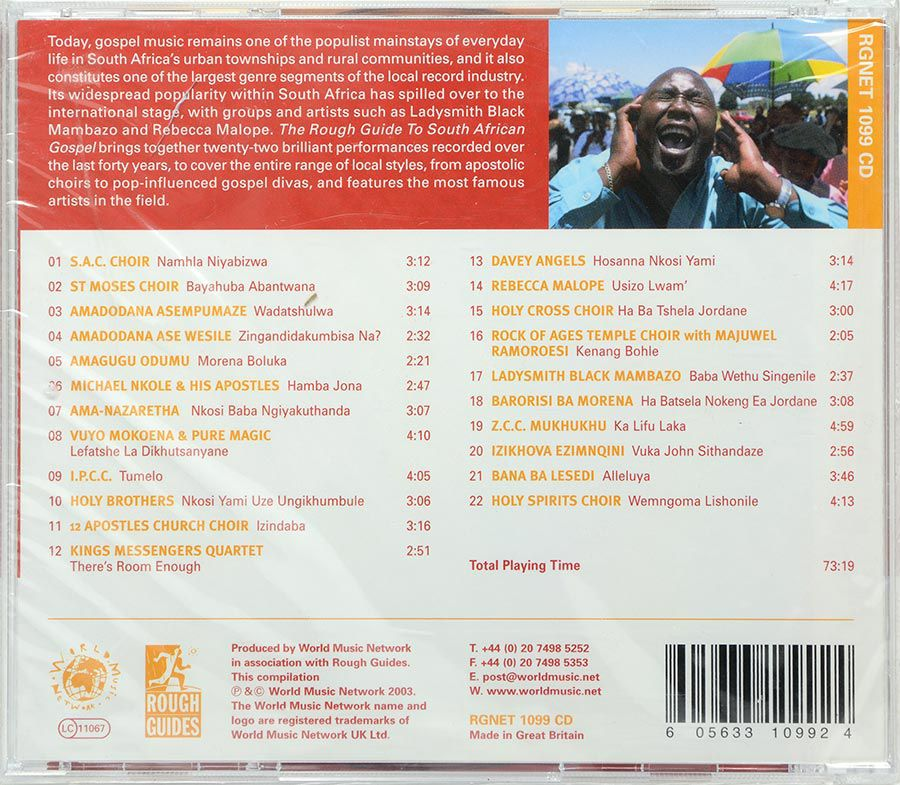CD The Rough Guide To South African Gospel - Lacrado - Importado