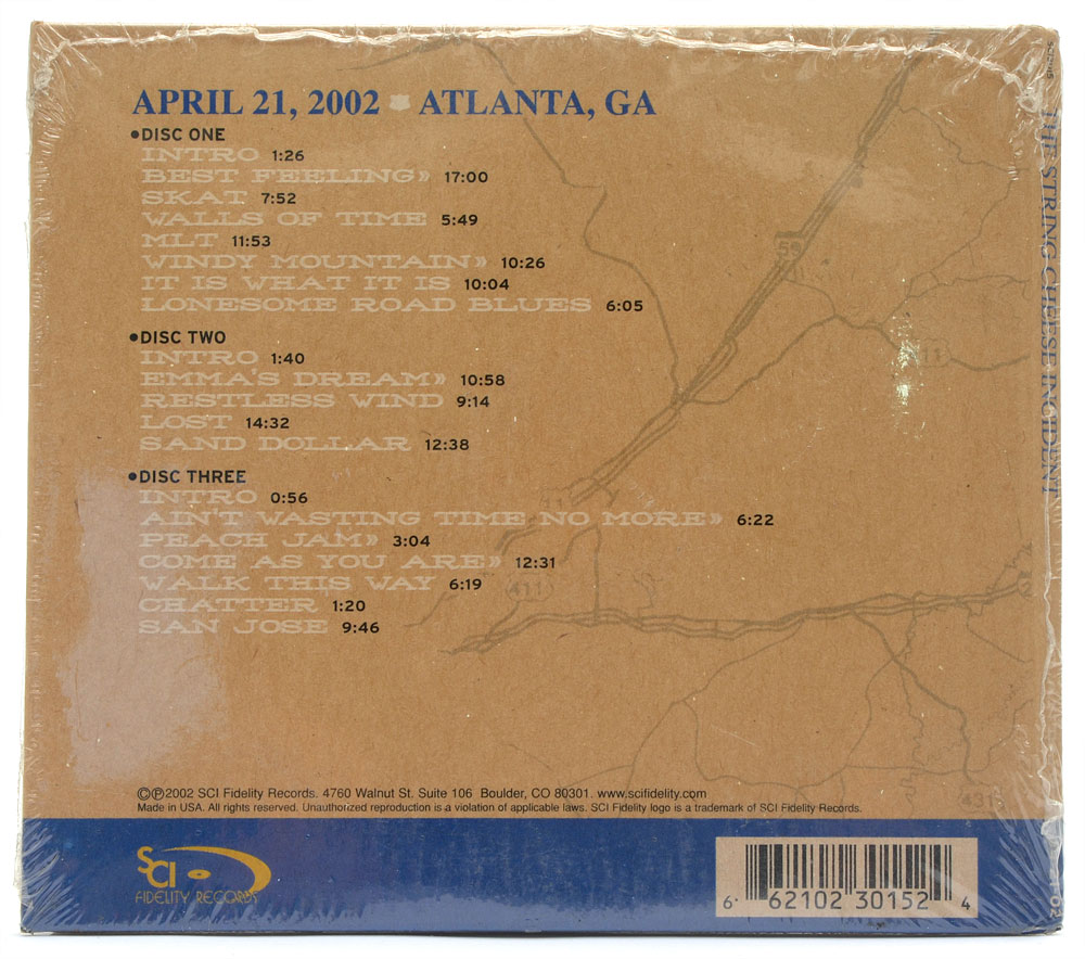 CD The String Cheese Incident - On The Road 4-21-02 Atlanta, GA - Importado - Lacrado