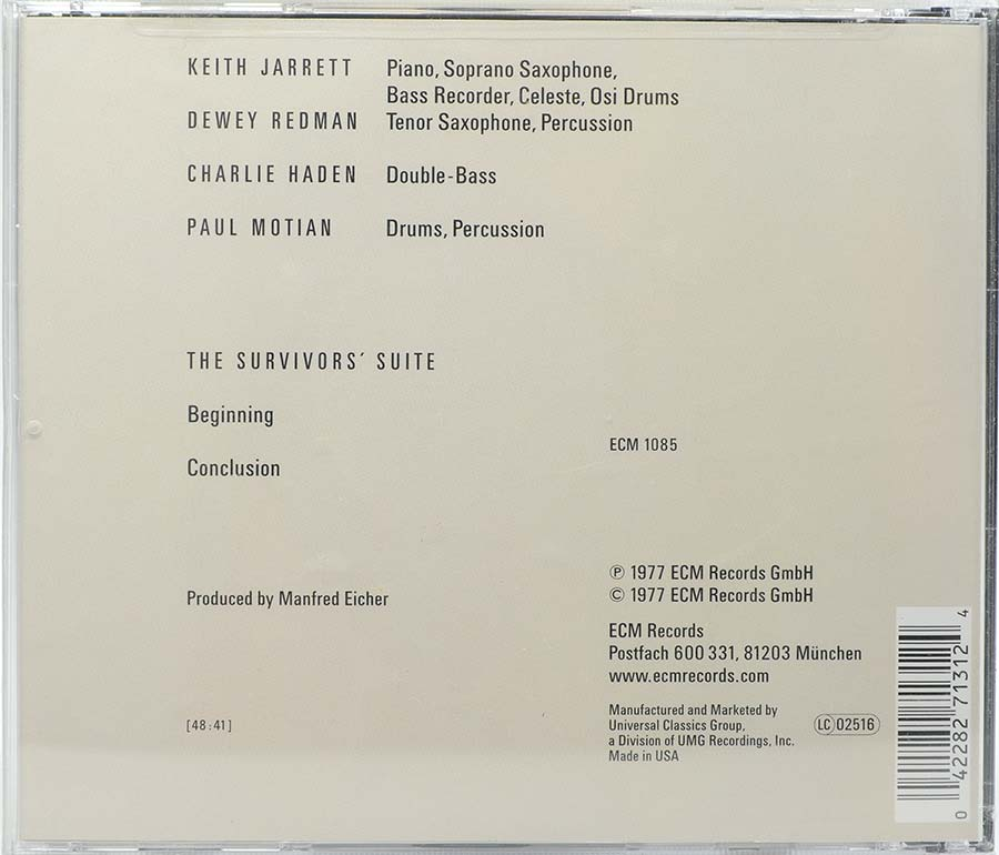 Cd The Survivors Suite - Keith Jarrett - Lacrado - Importado