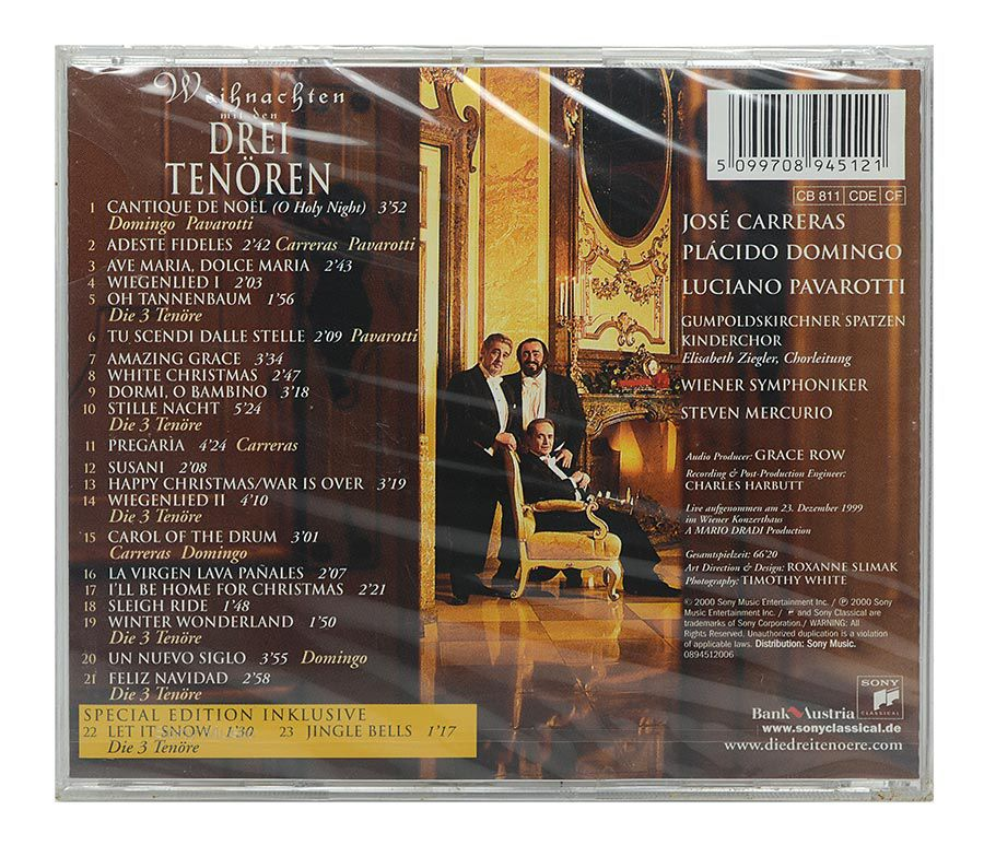 Cd The Three Tenors - Christmas - Importado - Lacrado
