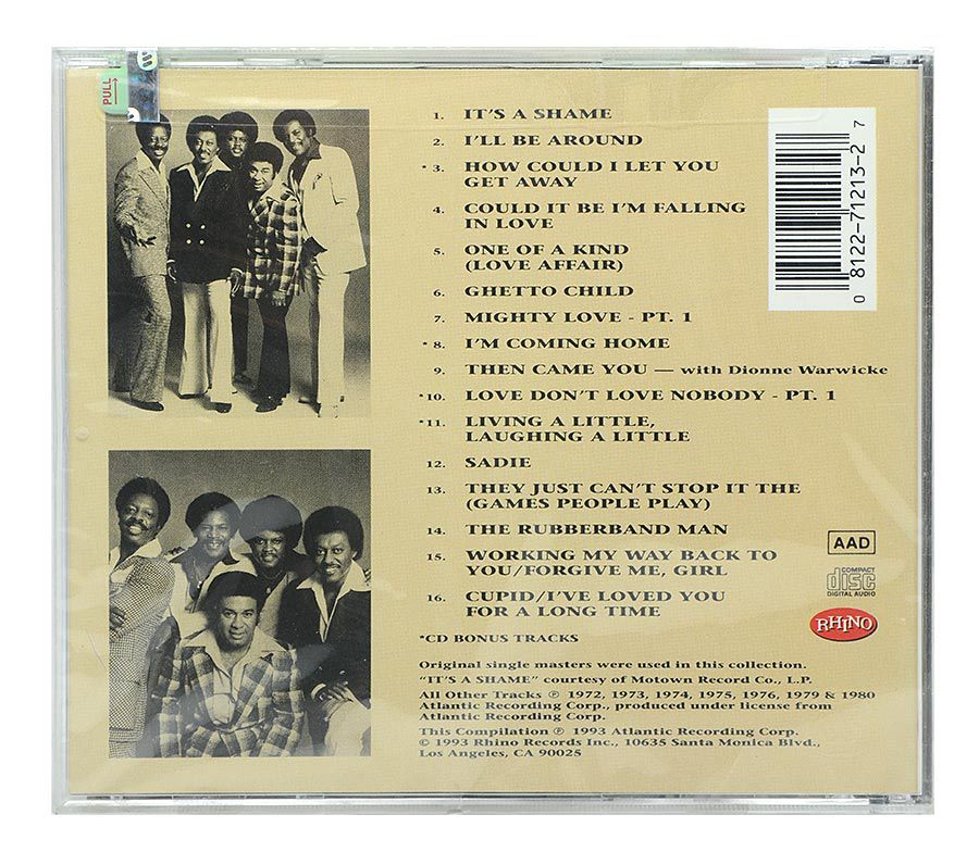 Cd The Very Best Of Spinners - Importado - Lacrado