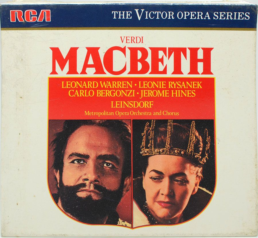 CD The Victor Opera Series - Macbeth - Leonard Warren Leonie Bergonzi - Lacrado - Importado
