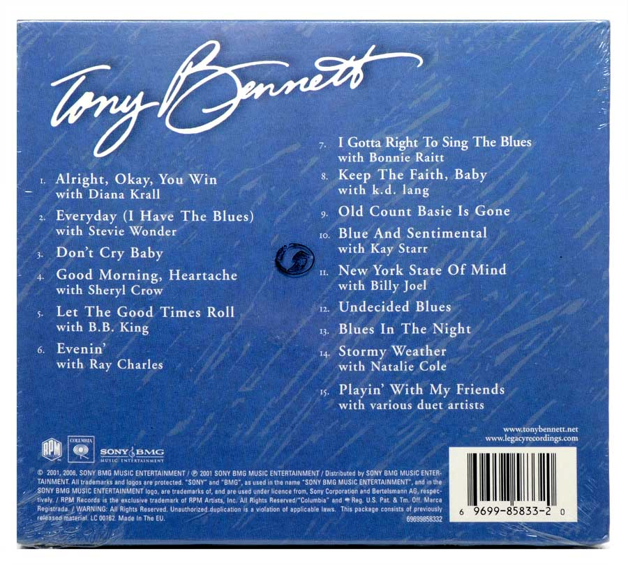 CD Tony Bennett - Playin With My Friends: Bennett Sings the Blues - Importado - Lacrado