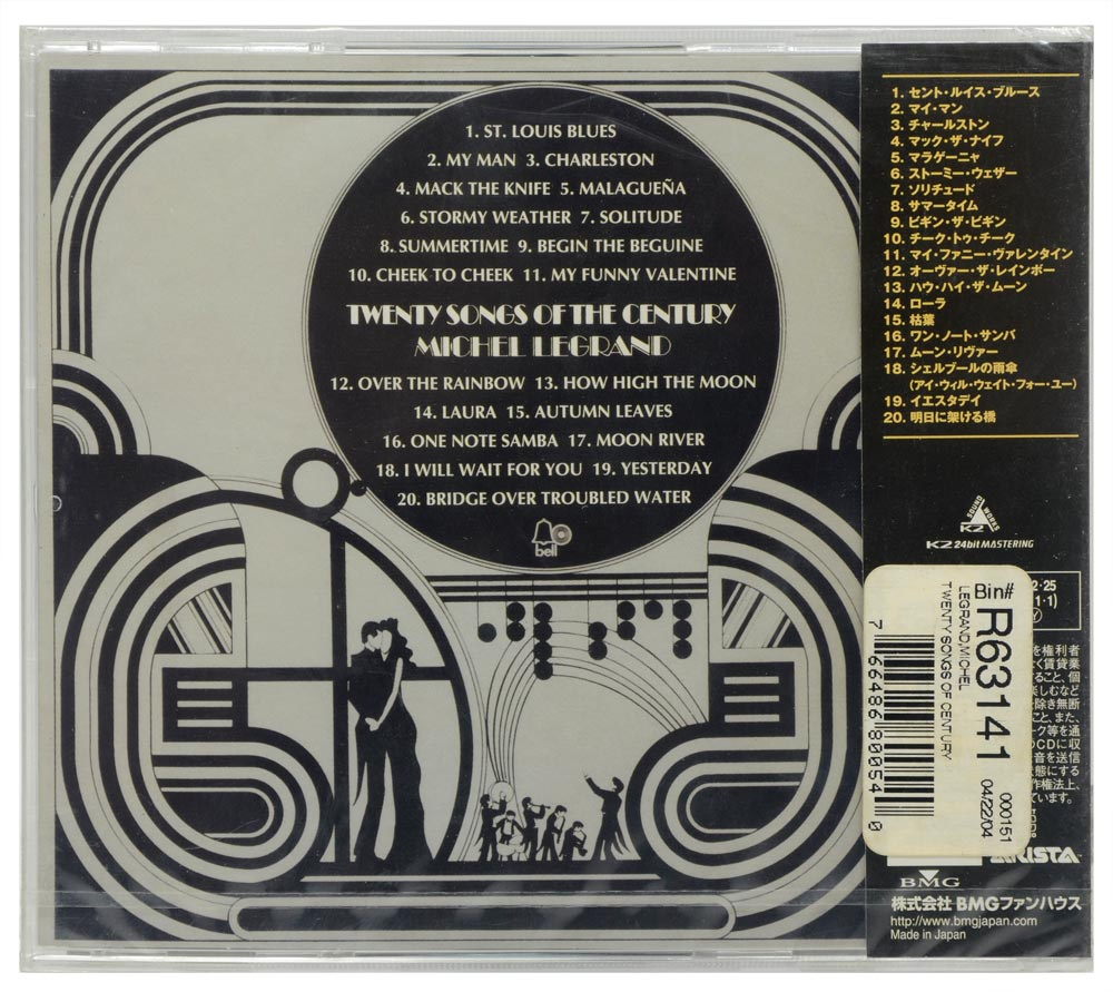 CD Twenty Songs Of The Century - Michel Legrand - Importado - Lacrado