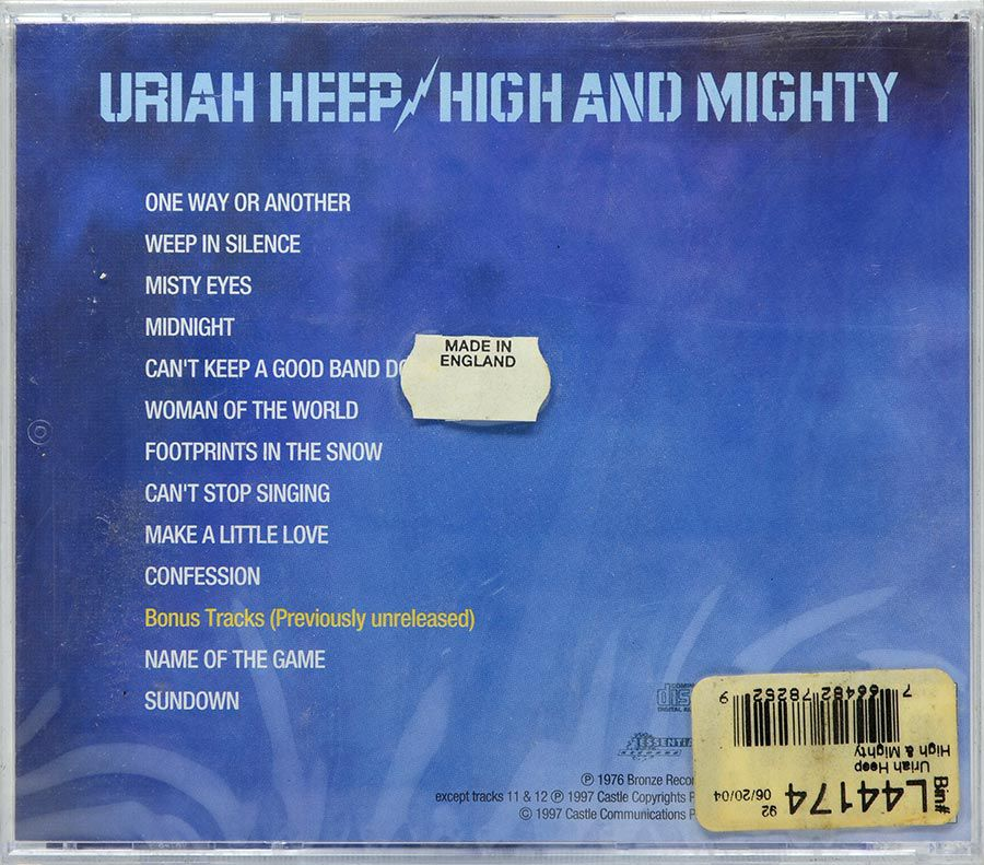 CD Uriah Heep - High And Mighty - Lacrado - Importado