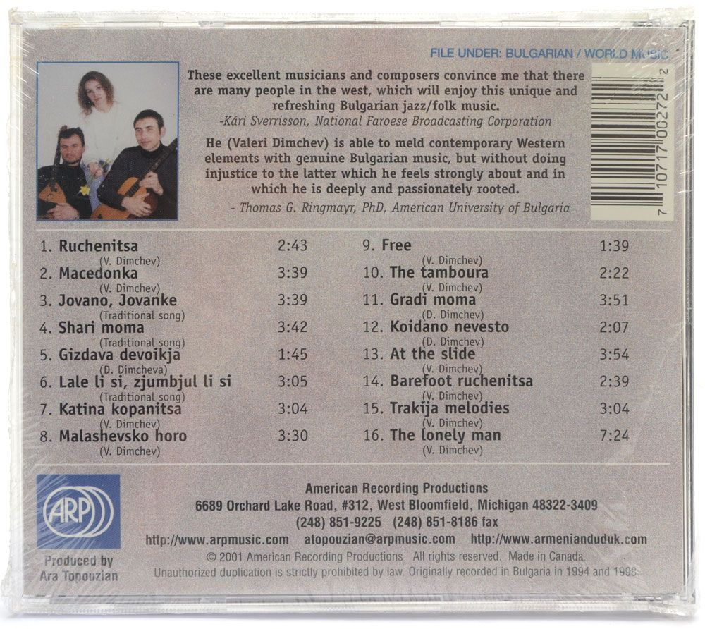 CD Valeri Dimchev Trio - The Bulgarian Tamboura - Importado - Lacrado