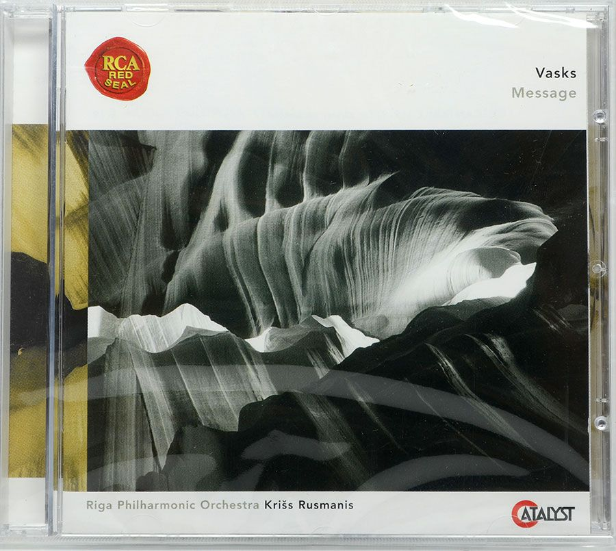 CD Vasks Message - Riga Philharmonic Kriss Rusmanis - Lacrado - Importado