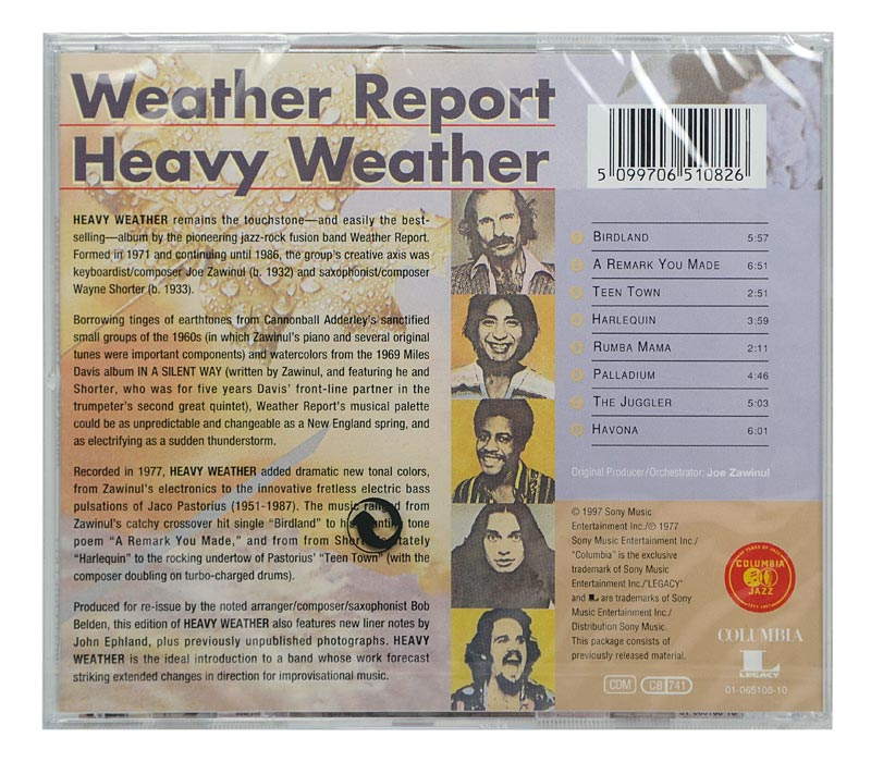 CD Weather Report - Heavy Weather - Importado - Lacrado