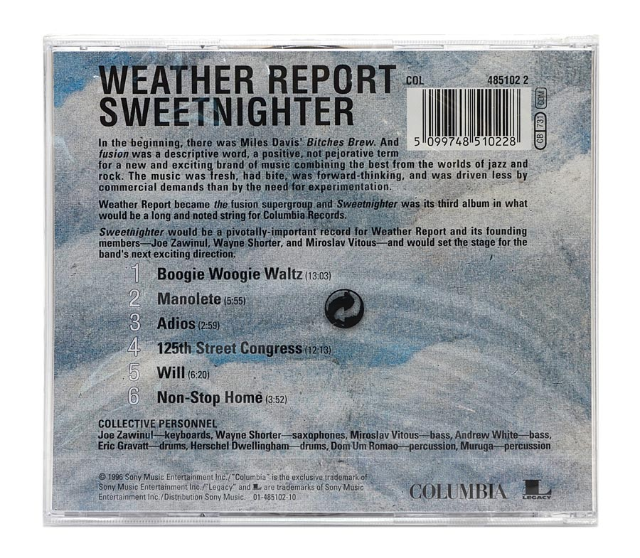 CD Weather Report - Sweetnighter - Importado - Lacrado