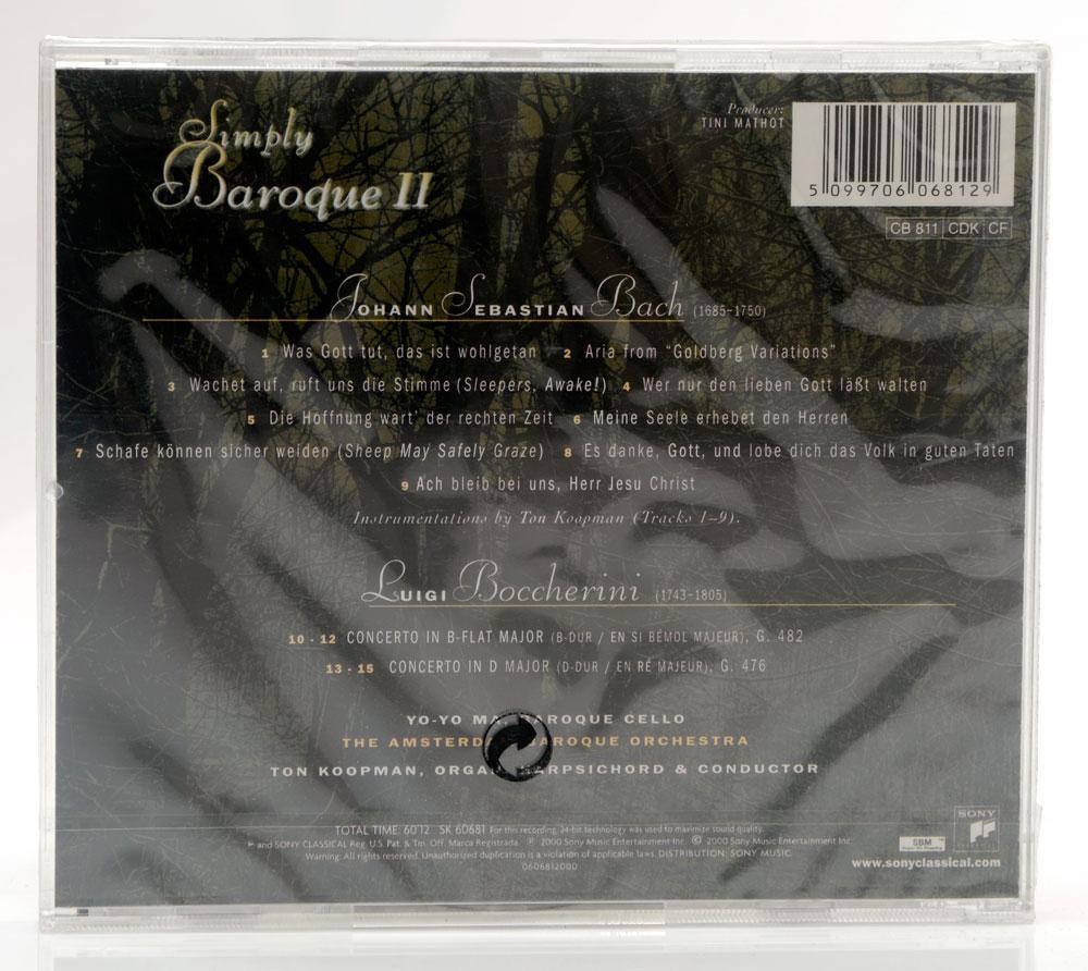 CD Yo-Yo Ma - Simply Baroque II - Importado - Lacrado