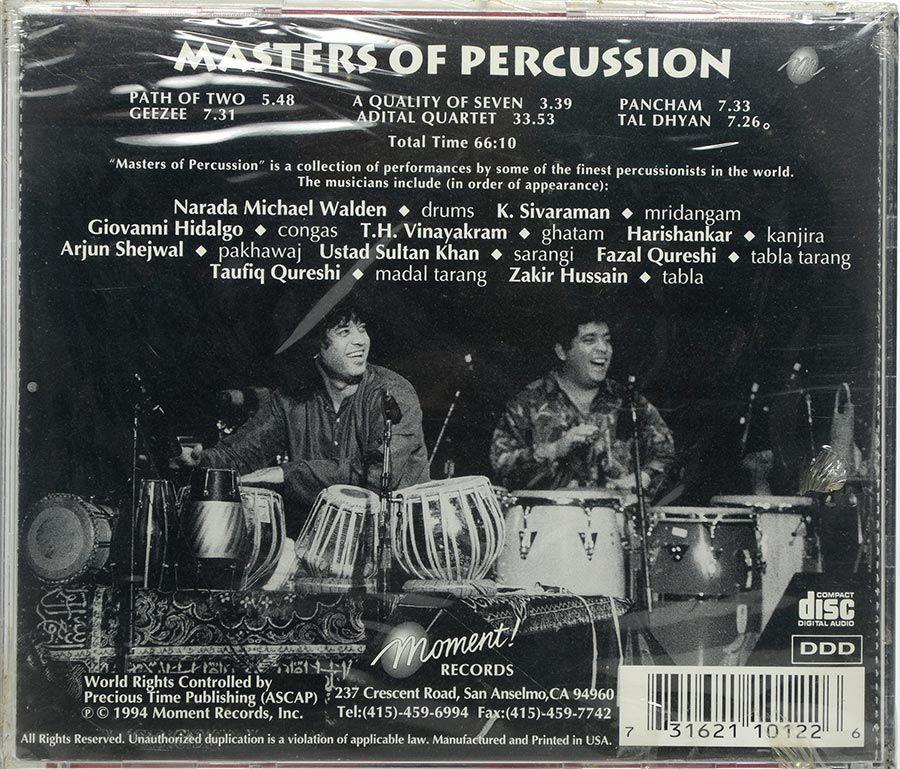 Cd Zakir Hussain Masters Of Percussion - Lacrado - Importado