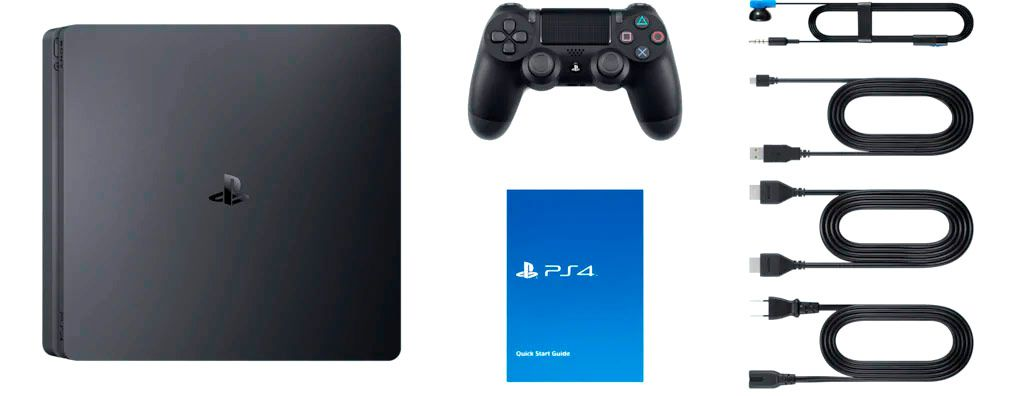 Console Ps4 Play Station 4 Sony +1 Controle 1Tb Na Caixa NF