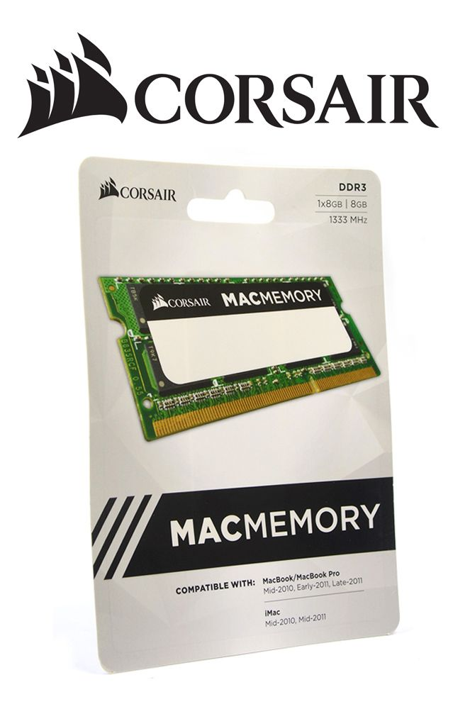 Memória Notebook Corsair Macmemory 8gb Ddr3 1333mhz 1x8gb C9