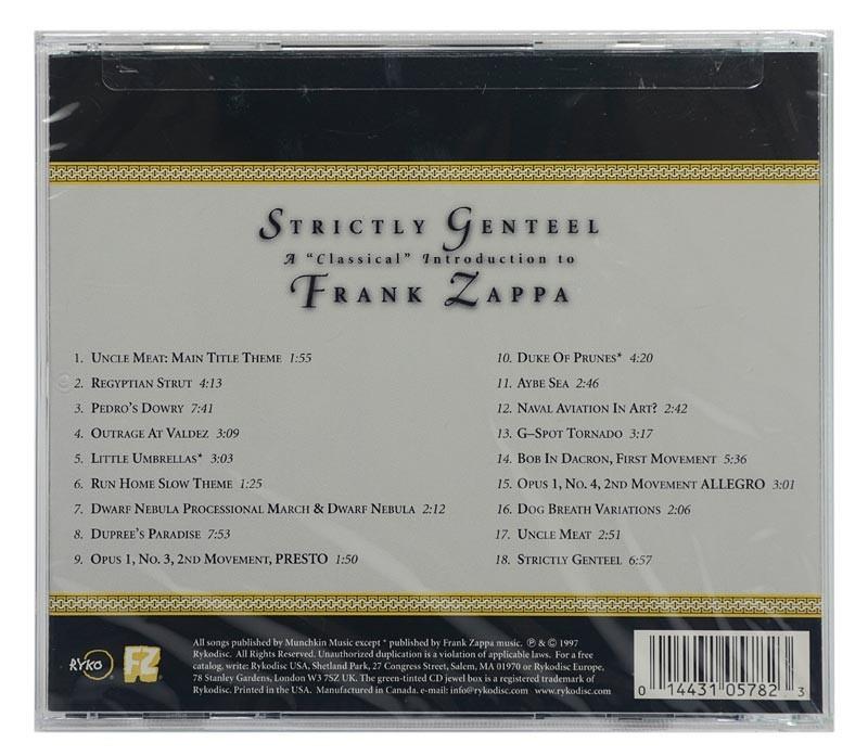 CD Frank Zappa - Strictly Genteel - Importado Canada - Lacrado