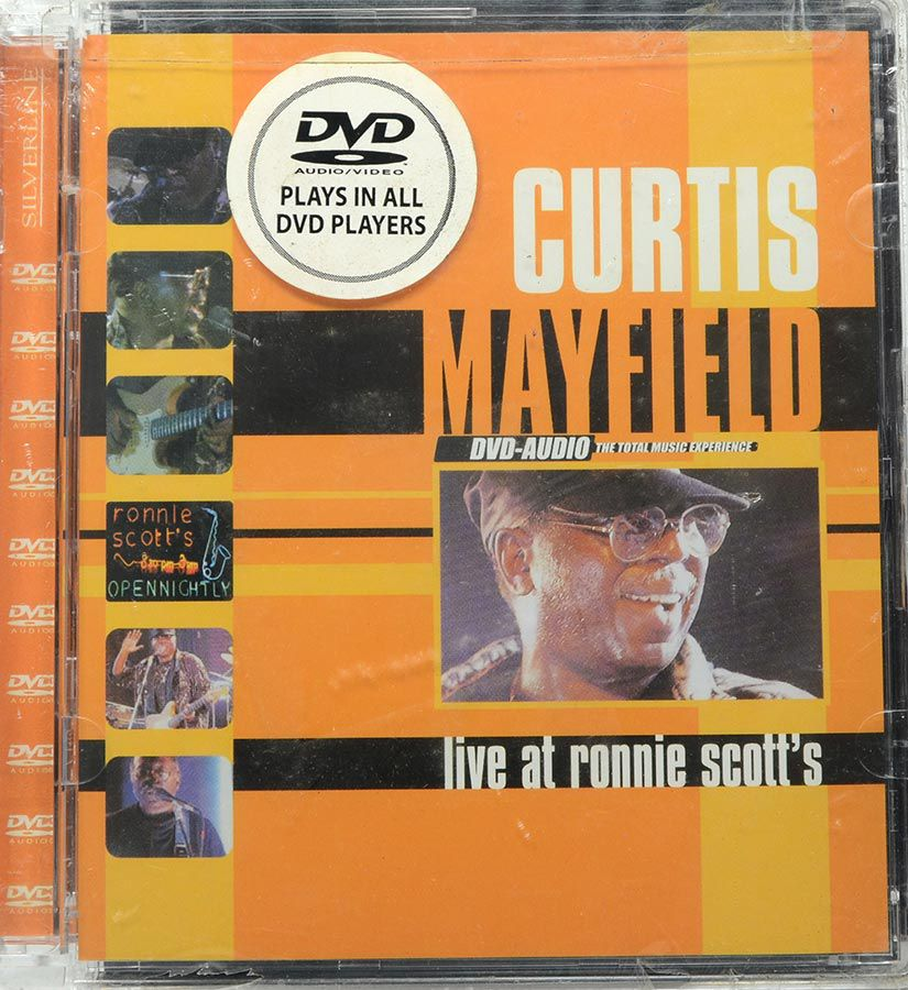 DVD-Audio Curtis Mayfield - Live At Ronnie Scott's - Lacrado - Importado
