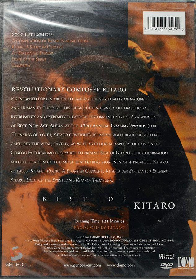 DVD Best Of Kitaro - Lacrado - Importado