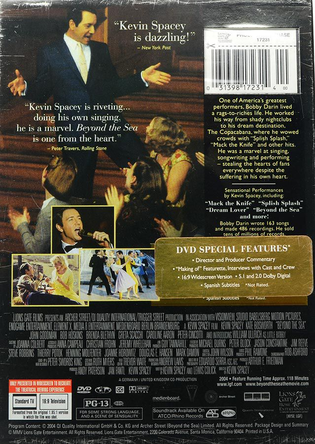 DVD Beyond The Sea (Uma Vida Sem Limites) - Kevin Spacey - Lacrado - Importado