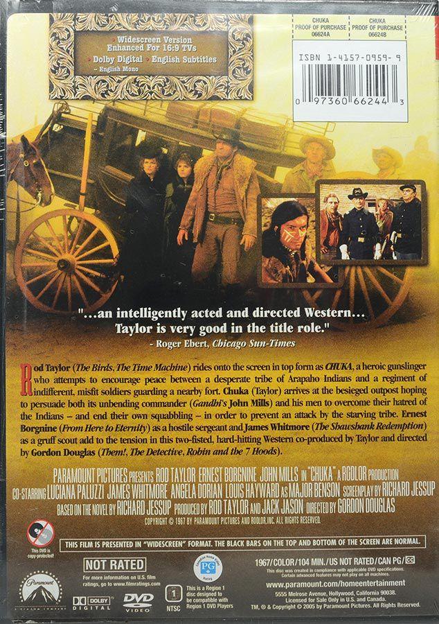 DVD Chuka - Rod Taylor Ernert Borgnine John Mills Gordon Douglas - Lacrado - Importado