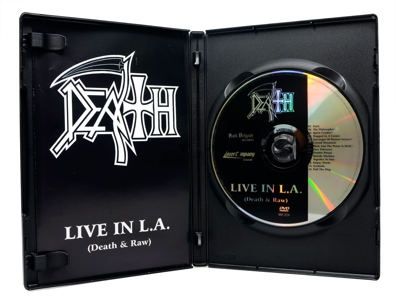 DVD Death - Live in L.A - Death & Raw - Lacrado