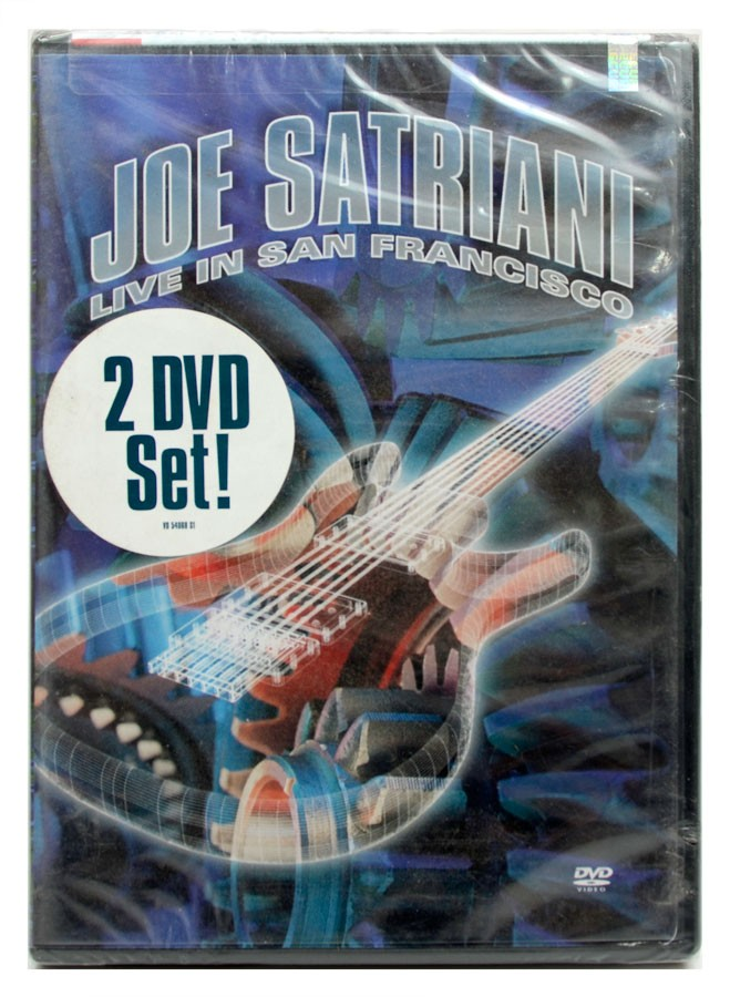 DVD Duplo Joe Satriani - Live In San Francisco - Importado - Lacrado