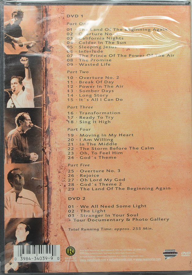 DVD Duplo Neal Morse - Testimony Live - Lacrado - Importado