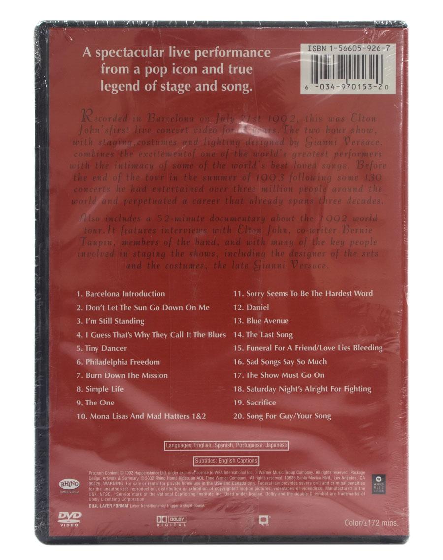 DVD Elton John - Live In Barcelona - Importado EUA - Lacrado