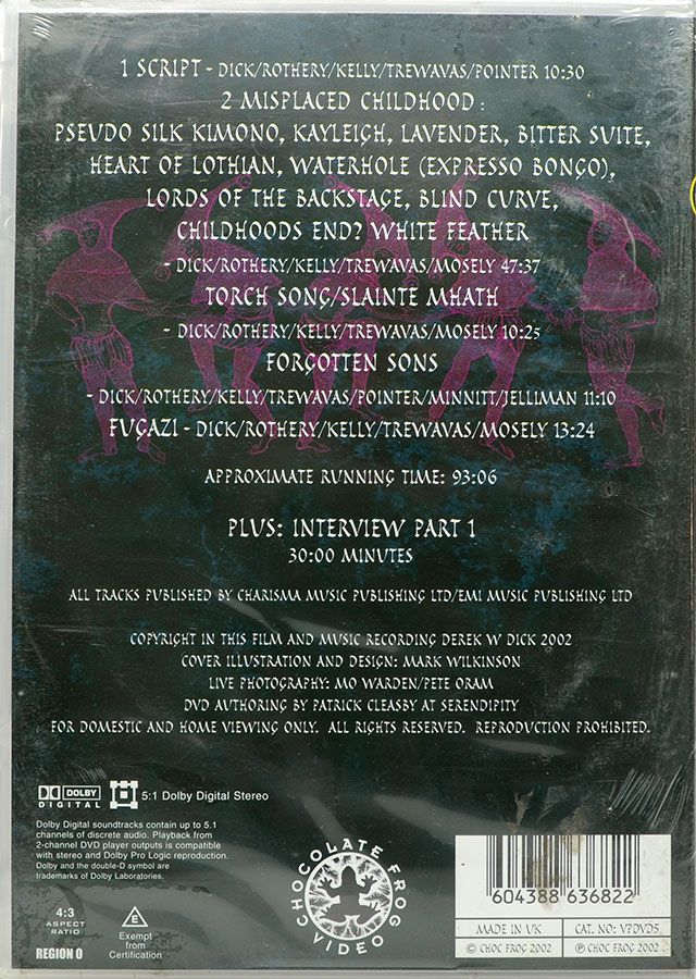 DVD Fish Fools Company - Live In Holland 2002 Part 1 - Importado UK