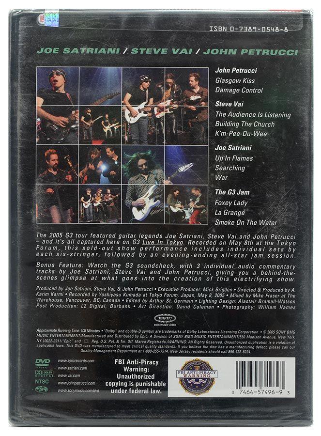 DVD G3 - Live In Tokyo - Satriani / Vai / Petrucci - Lacrado - Importado