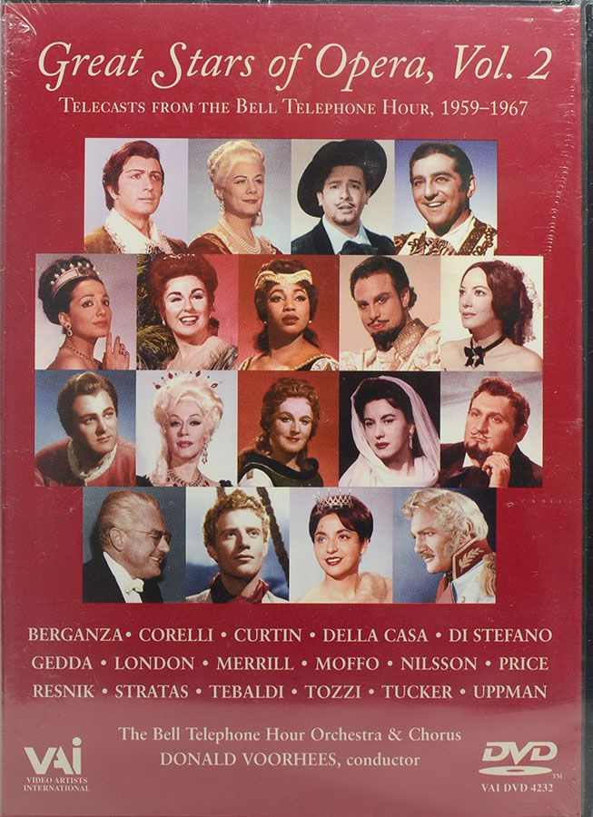 DVD Great Stars Of Opera Vol 2 - Lacrado - Importado