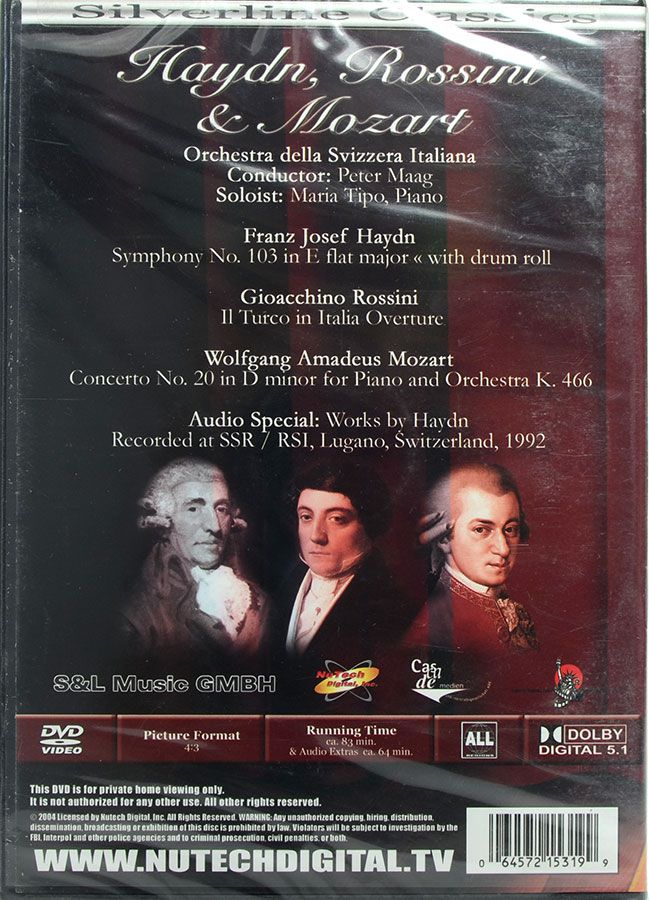 DVD Haydn, Rossini & Mozard - Lacrado - Importado