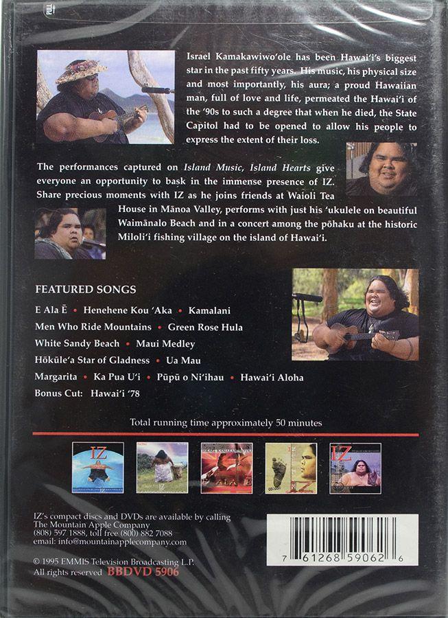 DVD Island Music Island Hearts - Israel Kamakawiwo'Ole - Lacrado - Importado