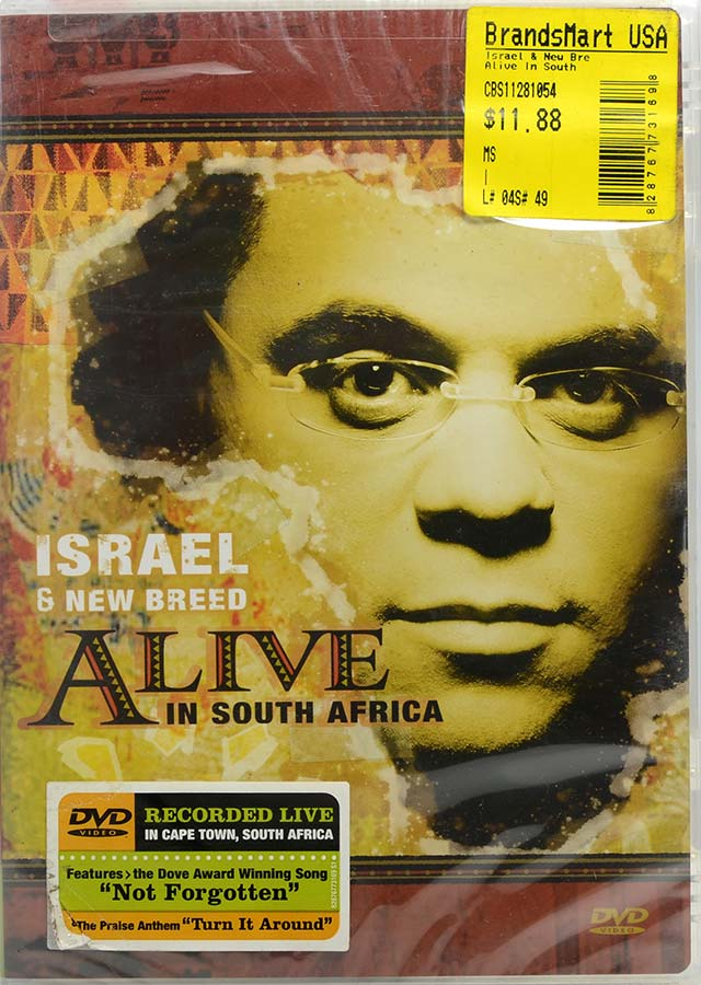 DVD Israel & New Breed Alive In South Africa - Lacrado - Importado