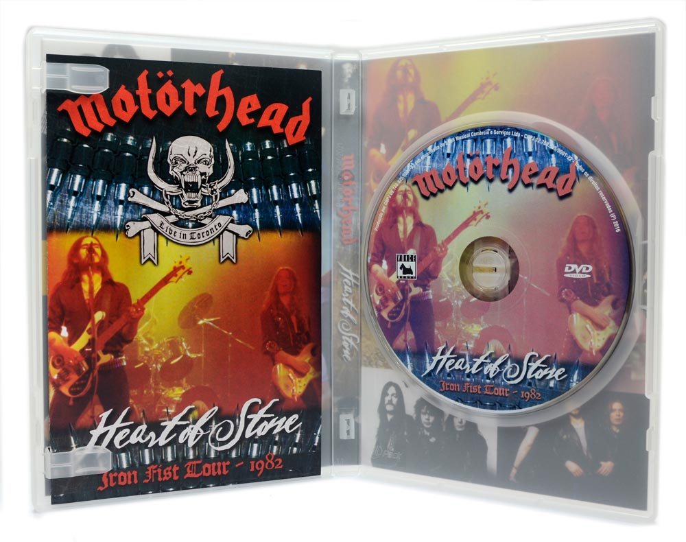 DVD Motorhead - Heart of Stone - Iron Fist Tour 1982 - Lacrado