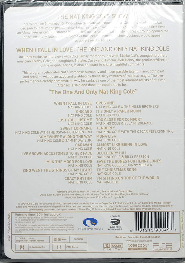 DVD Nat King Cole - When I Fall In Love: The One And Only  - Lacrado
