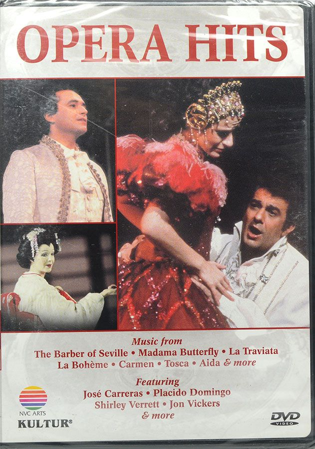 DVD Opera Hits - The Barber Of Seville - Madama Butterfly - Lacrado - Importado