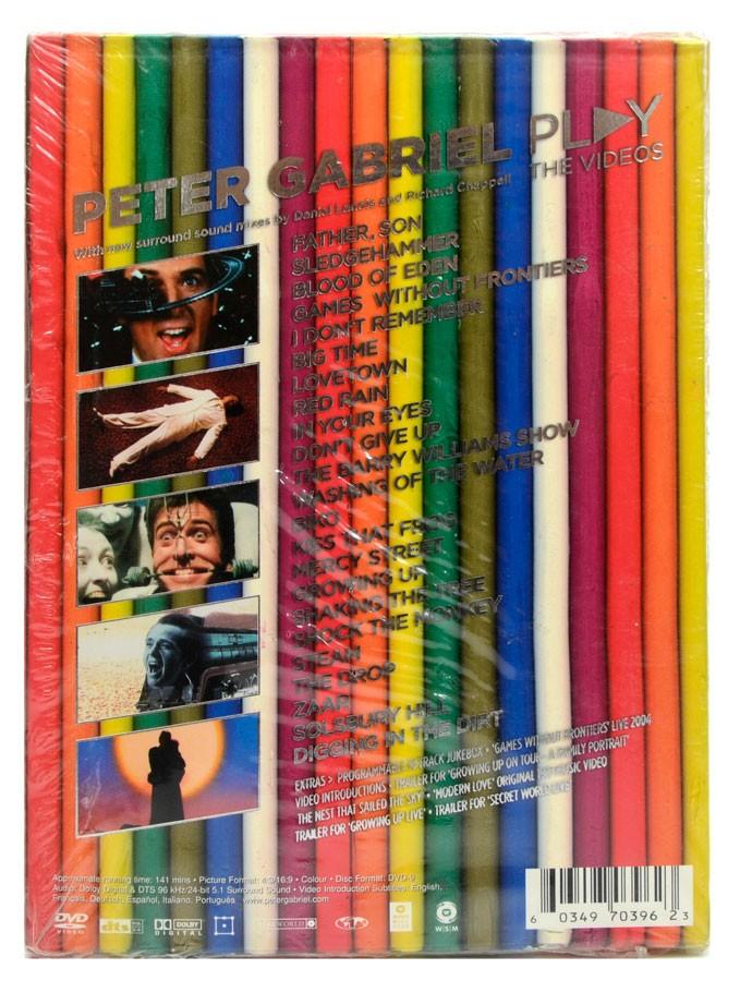 DVD Peter Gabriel - Play the Videos - Lacrado - Importado