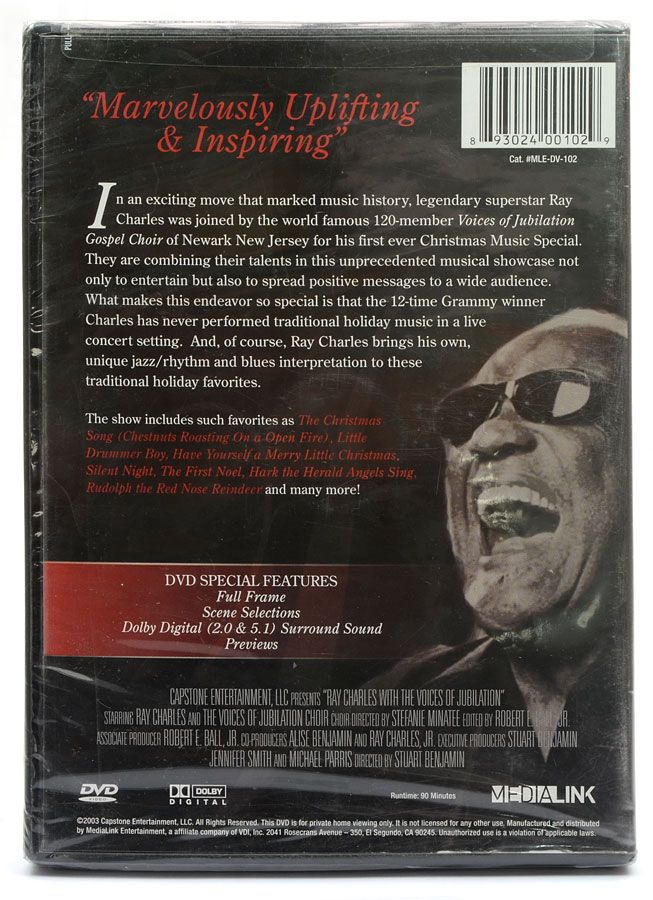 DVD Ray Charles - With The Voices Of Jubilation Choir - Importado - Lacrado