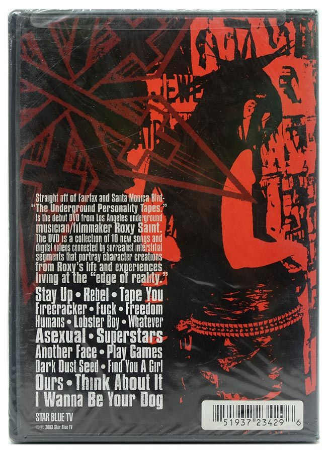 DVD Roxy Saint - The Underground Personality Tapes - Lacrado - Importado