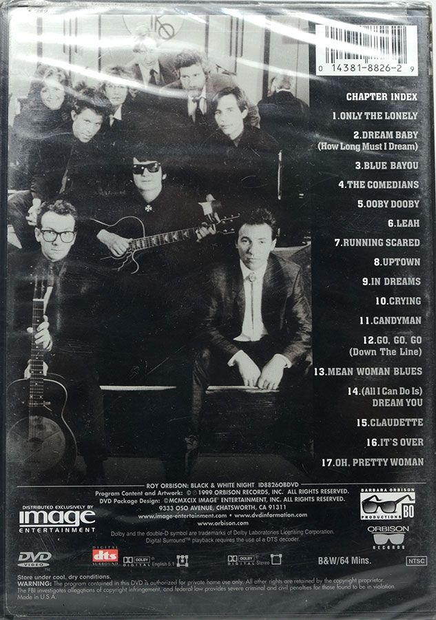 DVD Roy Orbison - Black & White Night - Lacrado - Importado