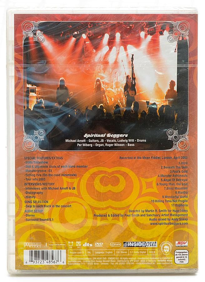 DVD Spiritual Beggars - Live Fire - Importado - Lacrado